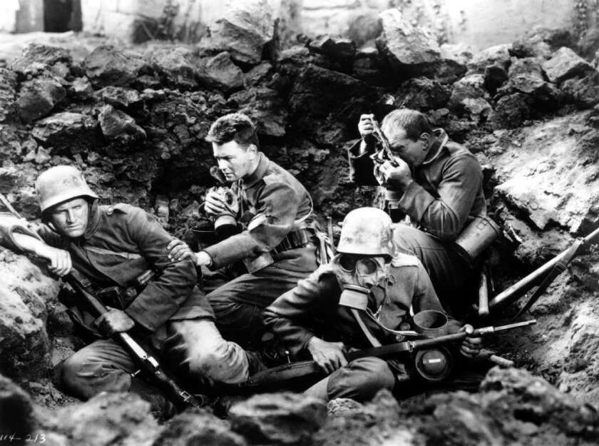 """A scene from the 1930 film """"All Quiet on the Western Front"""""""