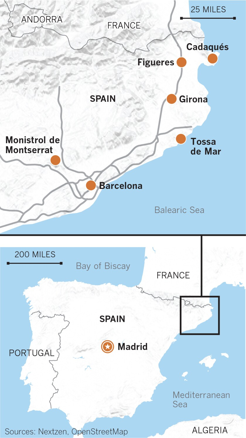 Map Of Spain 8th Century.Spain S Game Of Thrones Sites Drew Them Barcelona And Towns