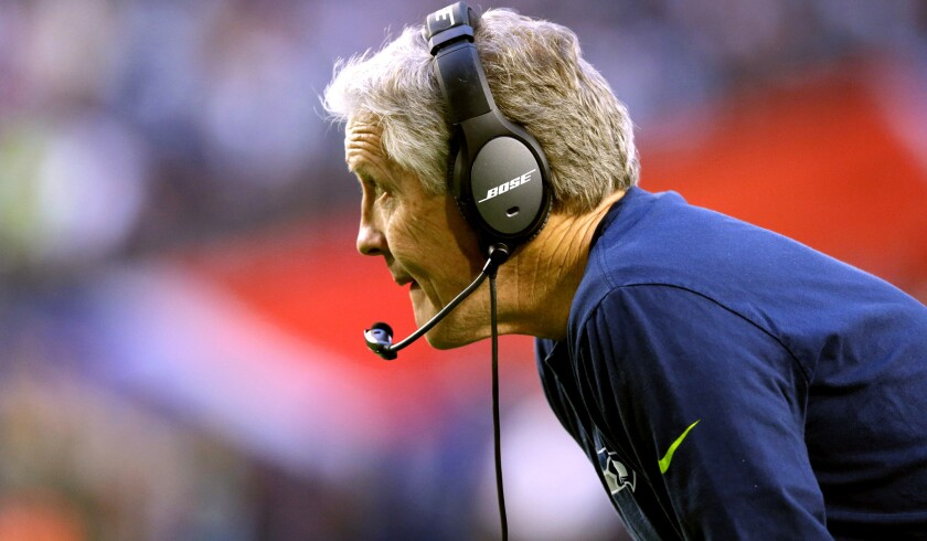 Seattle Seahawks Coach Pete Carroll has one Super Bowl win and a painful loss.