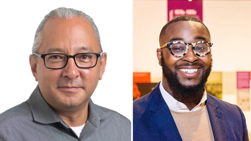 Joe D. Horse Capture, left and Tyree Boyd-Pates, are joining the Autry Museum of the American West as curators.