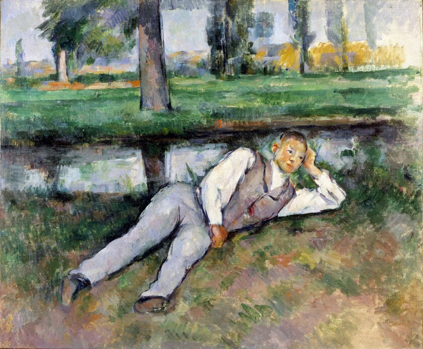"""""""Van Gogh & Friends: Masterpieces of Impressionism and Post-Impressionism from the Hammer Museum"""" is on view in the Huntington Art Gallery through January 2. Paul Cézanne (1839-1906), """"Boy Resting."""""""
