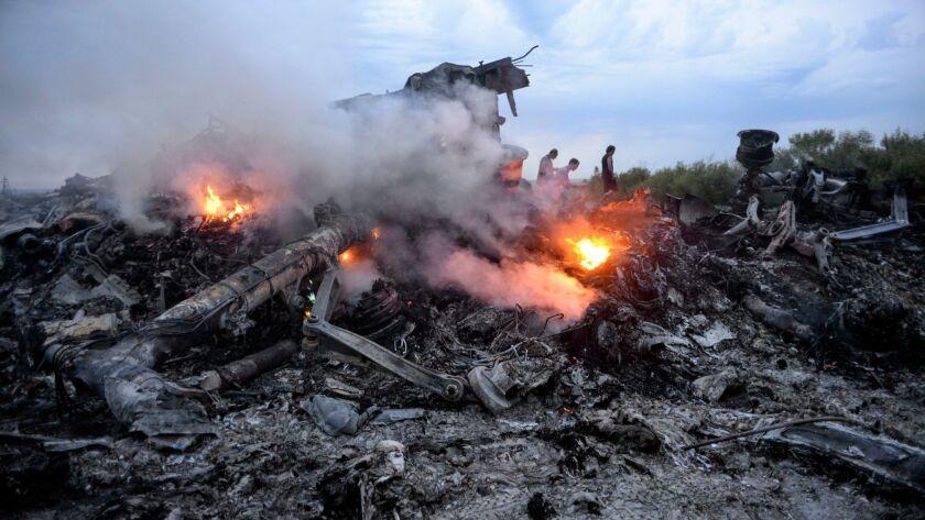 Joint Investigation Team investigation into MH17 plane crash, Donetsk, Ukraine - 17 Jul 2014