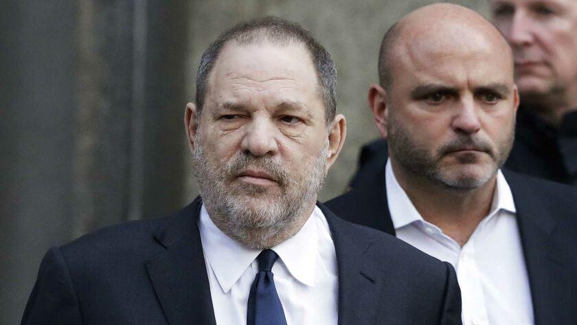 Harvey Weinstein leaves New York Supreme Court on Dec. 20.