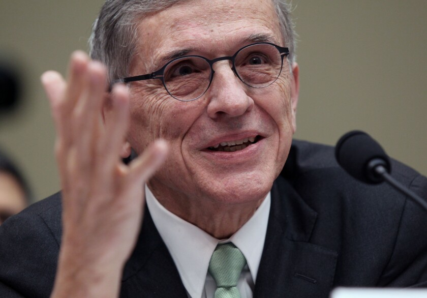 FCC Chairman Tom Wheeler testifies before Congress about net neutrality rules in March 2015.