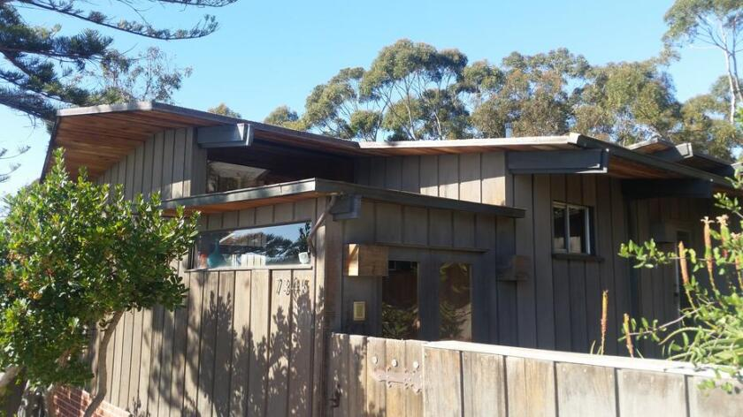 The Donald and Joyce Schmock/Sim Bruce Richards House at 7345 Remley Place in La Jolla was approved for historic designation.