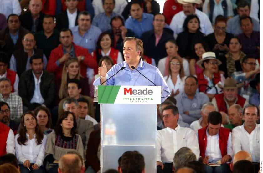 José Antonio Meade, precandidato presidencial del PRI, cerrará su precampaña el próximo domingo 11 de febrero en el Estado de México, tierra natal del Presidente Enrique Peña Nieto.