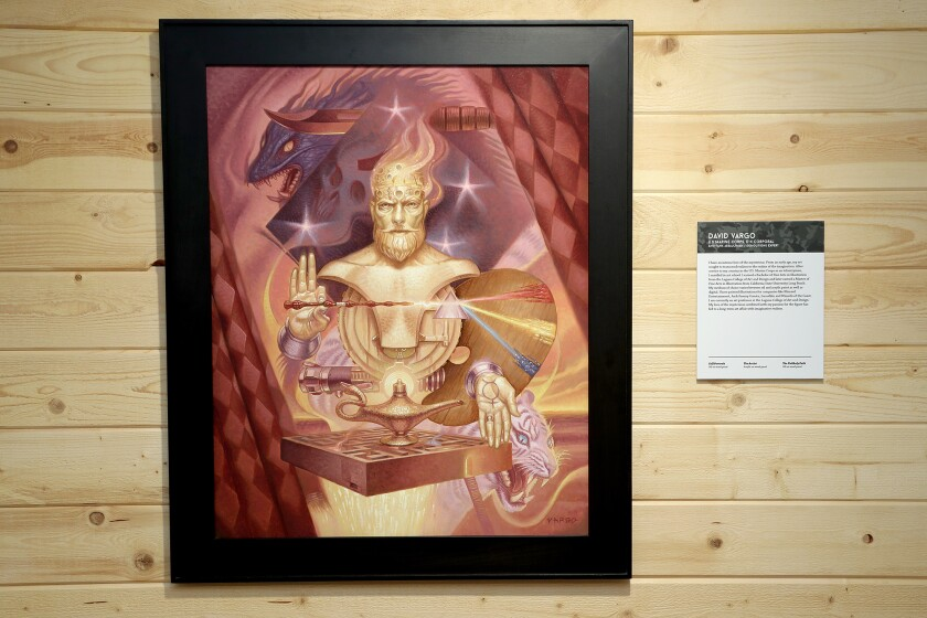 """An oil on wood panel painting by David Vargo at the new art exhibit """"Through Their Eyes"""" at Heroes Hall in Costa Mesa."""
