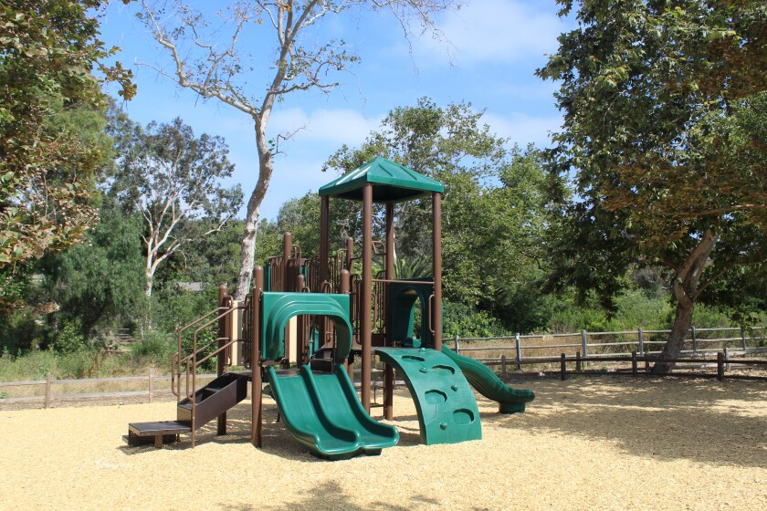 The Rancho Santa Fe Association installed a new play structure in the summer.