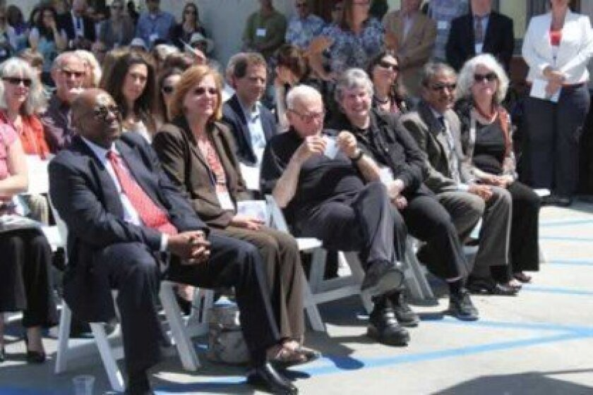 Attendees and officials from UC San Diego and Scripps Institution of Oceanography at the MESOM dedication ceremony.