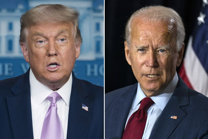 President Trump, left, and former Vice President Joe Biden.