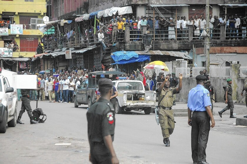 Suspected bomb in Lagos
