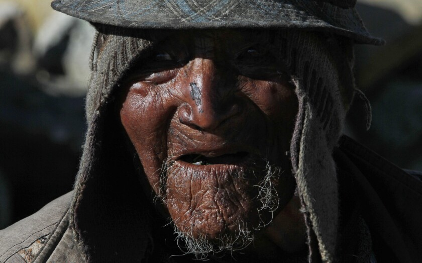 Bolivian villager Carmelo Flores Laura is Aymara -- an indigenous South American tribe. He may be the world's oldest living person.