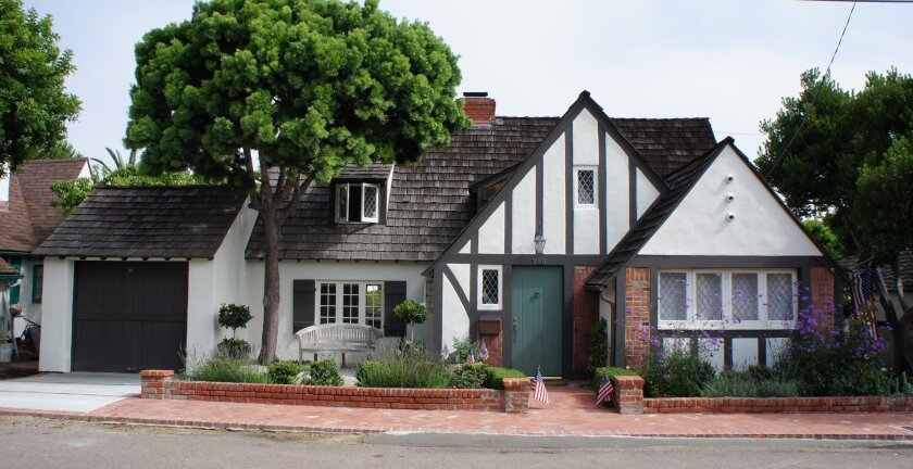 Following a full restoration by owner Patrick Bewley, this 1929 tudor revival-style cottage at 350 Fern Glen received a historic designation from the City of San Diego on Aug. 27. Its designer-builder, Florence Buchanan Palmer, also received the posthumous designation of 'master designer.'