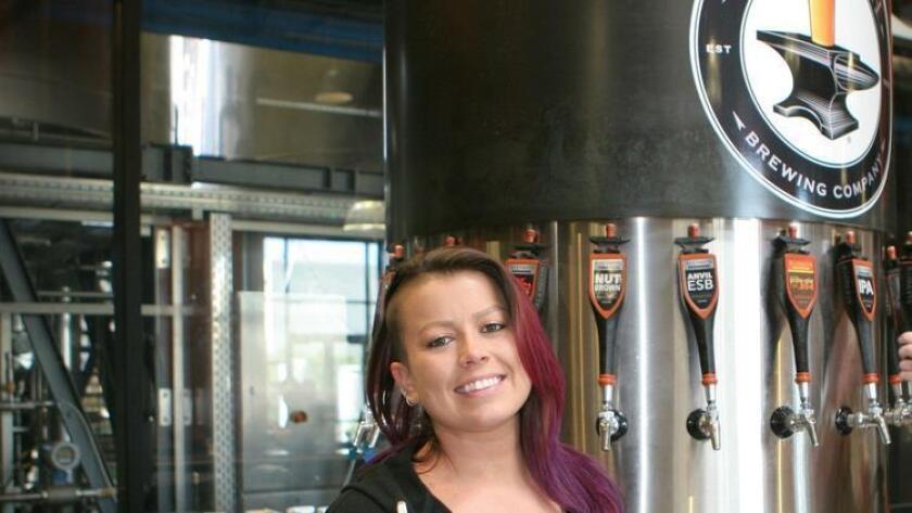 Kira Bouchard, bartender at Alesmith Brewing Co. (Liz Bowen)