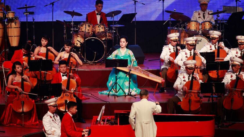 North Korea concert celebrating the 70th anniversary of its founding, Pyongyang - 08 Sep 2018