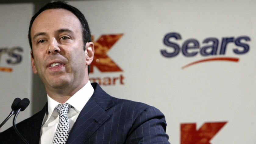 Eddie Lampert is shown in 2004. His hedge fund sank $2.6 billion into Sears starting in 2012 to finance a series of spinoffs, rights offerings and refinancings.