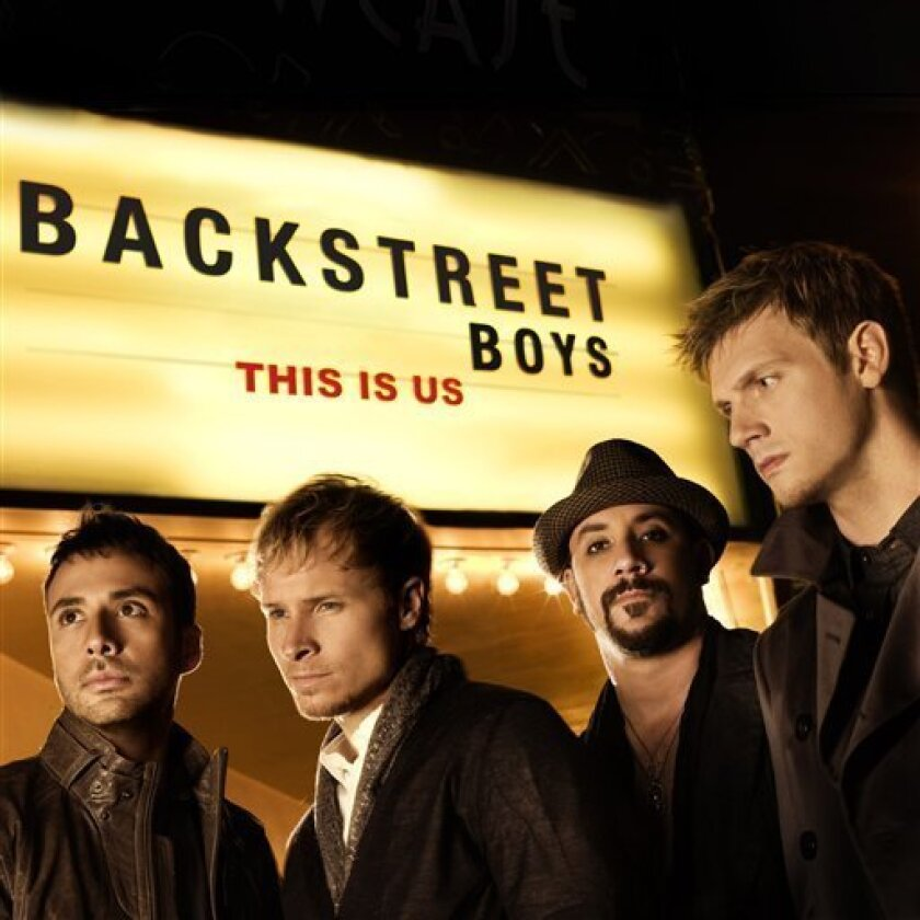 """In this CD cover image released by Jive Records, """"This Is Us"""" by the Backstreet Boys, is shown. (AP Photo/Jive Records)"""