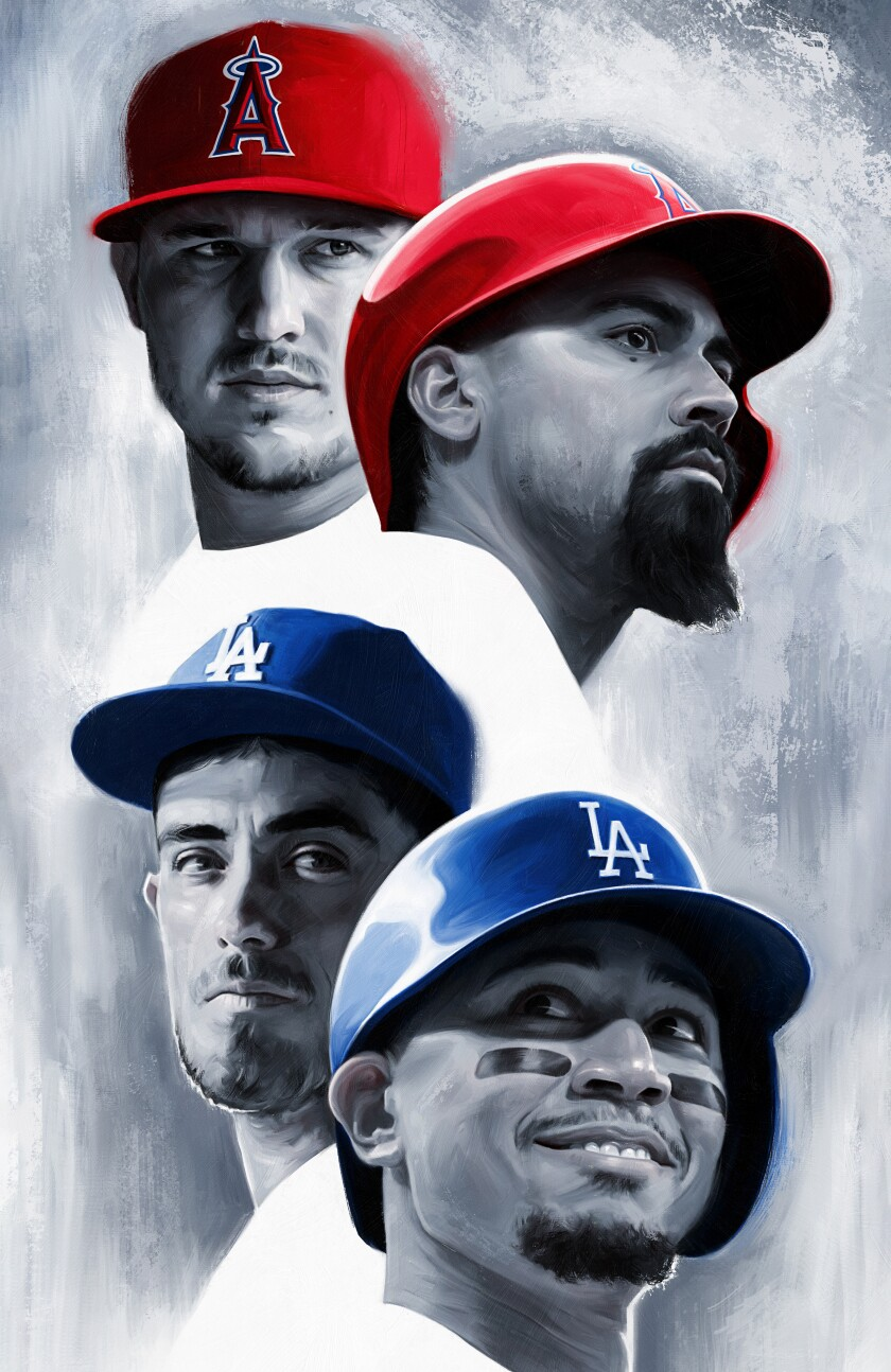 Mike Trout, Anthony Rendon, Cody Bellinger, Mookie Betts