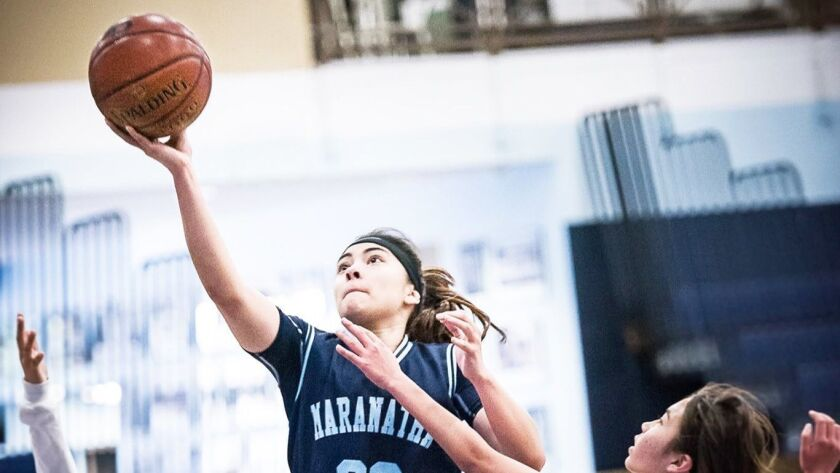 Maranatha's Kaylee Herring, who left martial arts for basketball, is averaging 11.1 points a game.