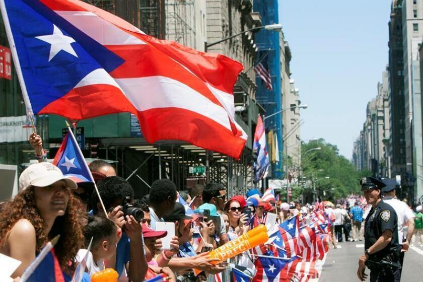La organización del Desfile Puertorriqueño de Nueva York anunció hoy en San Juan que su próxima edición, que se llevará a cabo el 10 de junio, se le dedicará al municipio de Morovis, por su bicentenario de fundación. EFE/Archivo