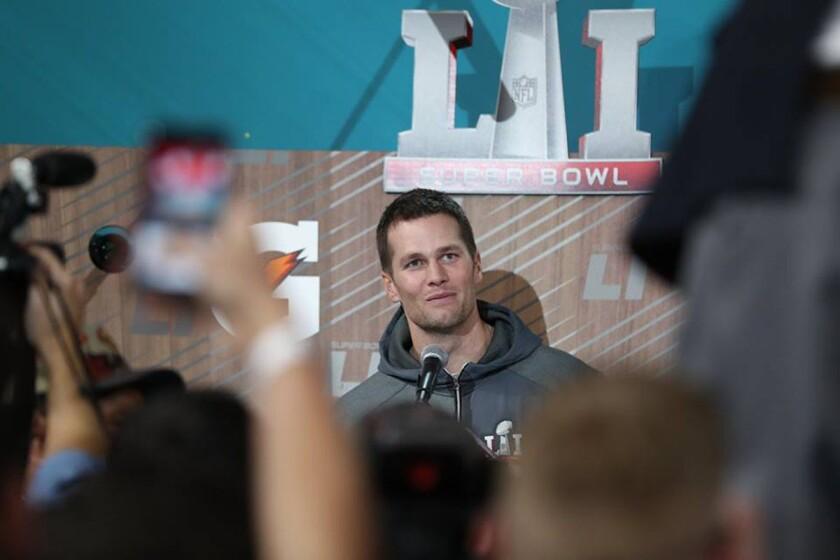 Tom Brady, QB de los Patriots y partidario del presidente Donald Trump.