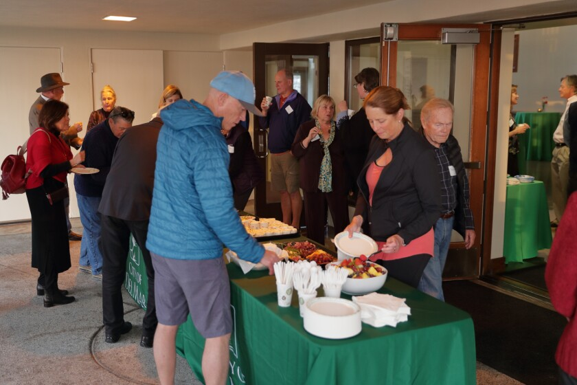 Light refreshments were served at the reception to welcome new Del Mar City Manager CJ Johnson
