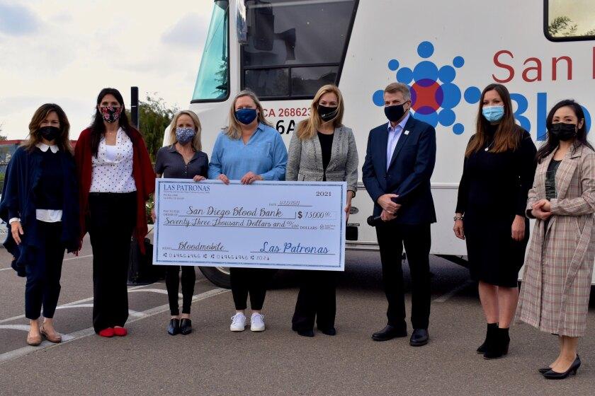 Las Patronas granted $73,000 to the San Diego Blood Bank.