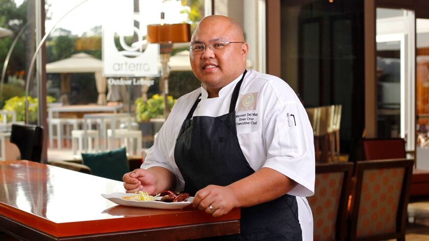 Evan Cruz is the executive chef at Arterra Restaurant at the San Diego Marriott Del Mar.