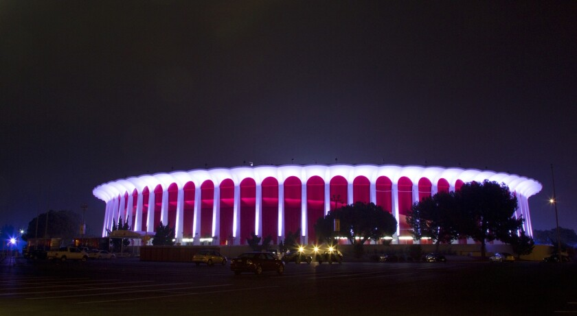 The Forum in Inglewood is a 17,500-seat arena that opened in 1967.