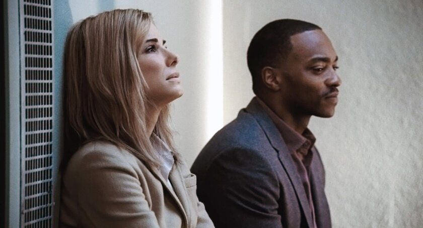 """Sandra Bullock as Jane and Anthony Mackie as Ben in """"Our Brand is Crisis"""""""