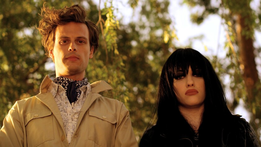 """Matthew Gray Gubler and Kat Dennings in the movie """"Suburban Gothic."""""""