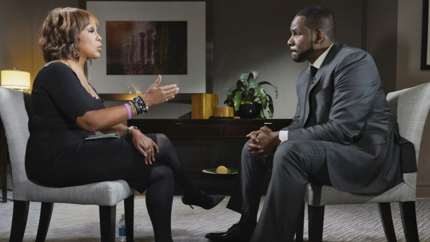 """CBS This Morning"" co-host Gayle King sat down with R&B singer R. Kelly in Chicago this week for his first television interview since he was arrested on 10 sexual abuse charges."