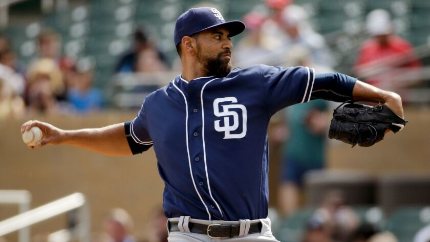 San Diego Padres starting pitcher Tyson Ross throws against the Colorado Rockies during first inning