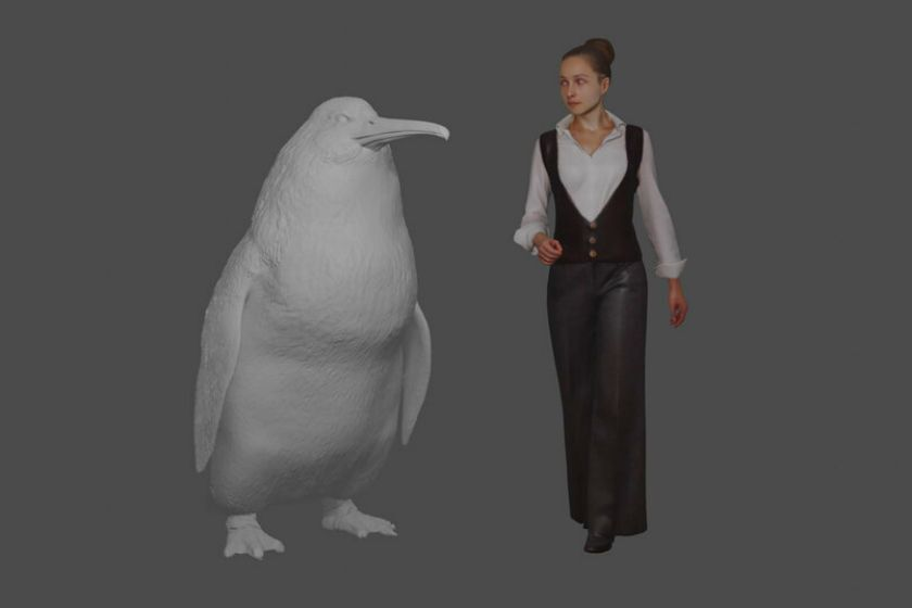 Giant penguin