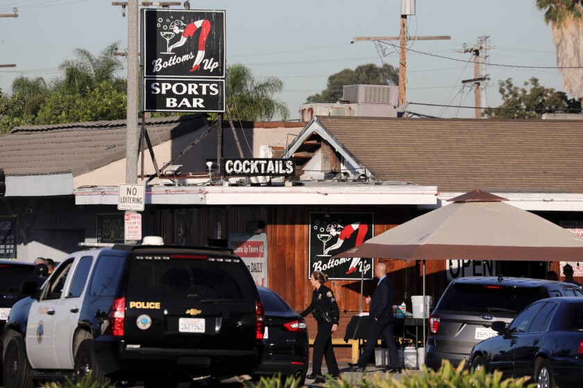 An investigation is underway in Long Beach after an armed man opened fire inside a bar. He was later confronted by police and an officer-involved shooting took place.