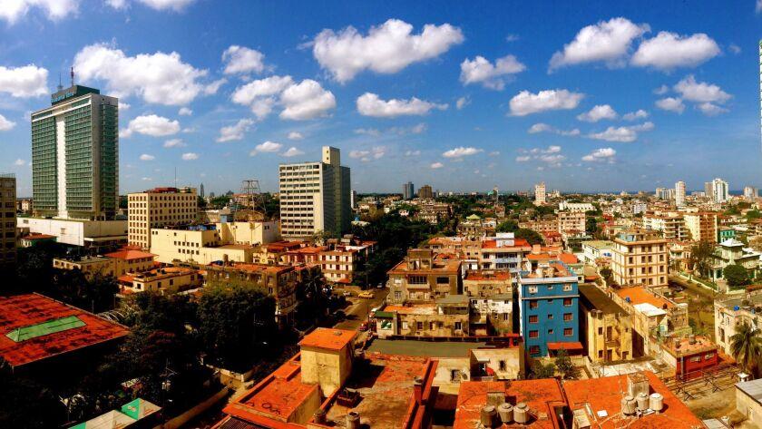 The view from Chris Allen's room at Hotel Capri in Havana in April 2014.