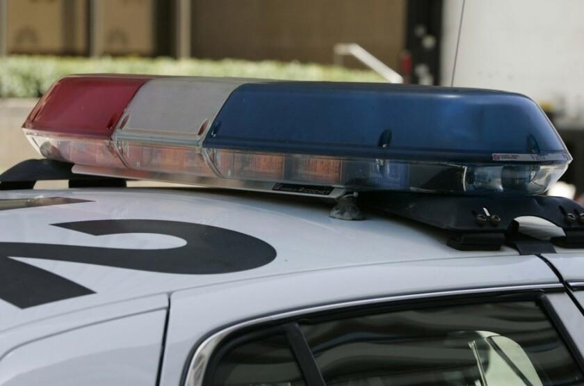 Light bar atop a police patrol car
