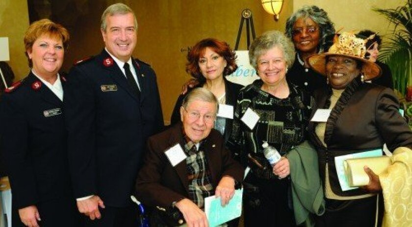 Maj. Michelle Lescano, Maj. Lee Lescano, Peter Chacon, Beatriz Lapensee, Jean Chacon, Frances Jackson, Velma Brown (Photo: Jon Clark)