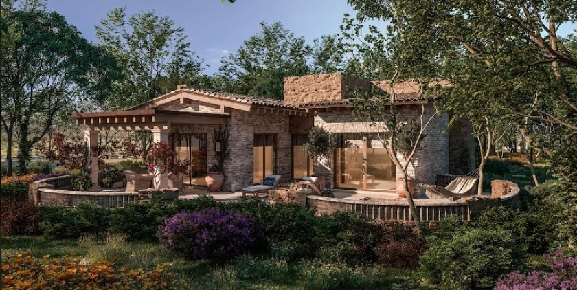 Prototype of a casa, one of  108 homes planned at Rancho La Puerta health spa in Tecate.