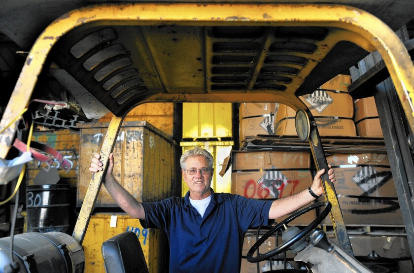 Scrap metal is an industry hurt by a strong dollar and port tie-ups. Mark Steckler, above, owns Letvin Scrap Metal in L.A.