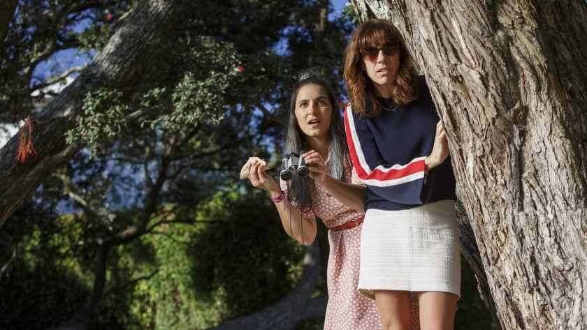 "(L-R) - Madeline Sami and ackie van Beek in a scene from ""THE BREAKER UPPERERS."" Credit: Netflix"