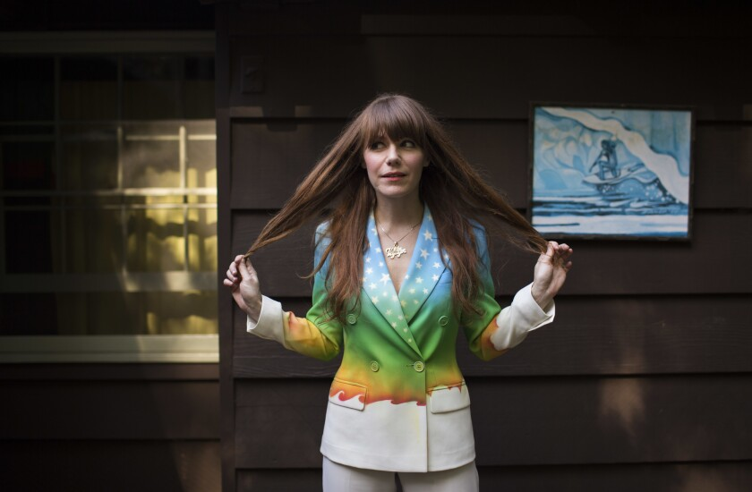 STUDIO CITY, CA - June 30, 2014: Jenny Lewis is photographed at her home in Laurel Canyon. Her upcom