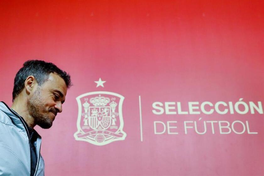 Luis Enrique, seleccionador español, ofrece una rueda de prensa este viernes para anunciar la convocatoria para los dos primeros partidos de la fase de clasificación a la Eurocopa 2020, ante Noruega en Mestalla y Malta en Ta'Qali. EFE