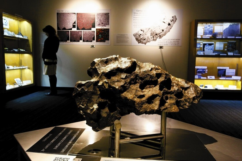 The Canyon Diablo meteorite is the centerpiece of UCLA's Meteorite Collection.