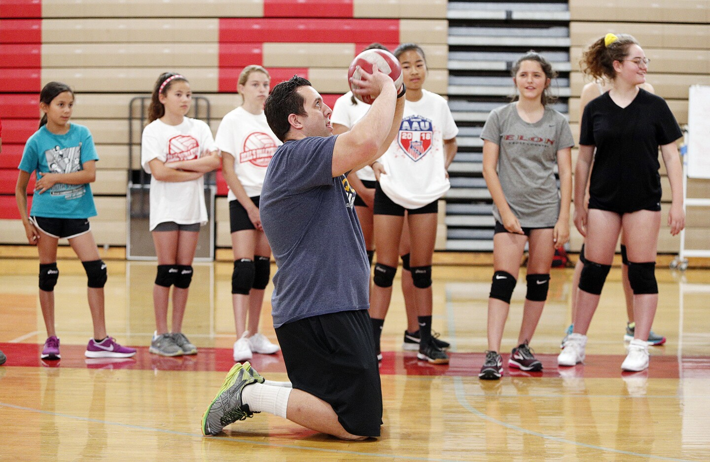 Photo Gallery: Volleyball camp at Burroughs High School