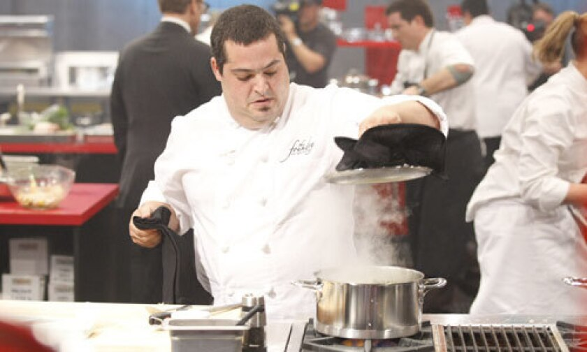 """Eric Greenspan, among the contestants to join the """"Iron Chef"""" stable, runs the Foundry on Melrose."""
