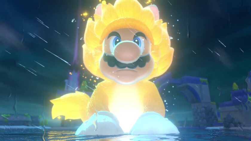 """Mario is a cat-meme waiting to happen in """"Bowser's Fury,"""" included in the rerelease of """"Super Mario 3D World."""""""