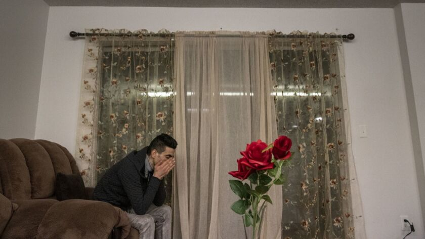 SEATTLE, WASH. -- WEDNESDAY, FEBRUARY 6, 2019: Iranian refugee Sirvan Moradi, 24, has a moment alon