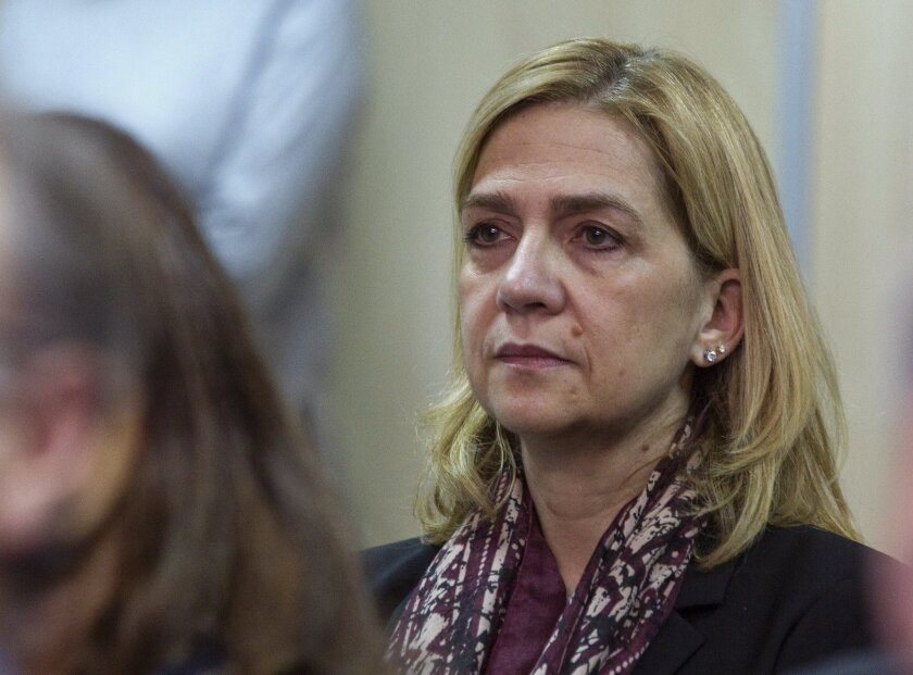 Princess Cristina of Spain on trial