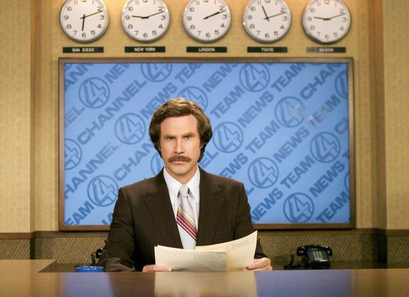 "Will Ferrell as Ron Burgundy, San Diego newscaster, in ""Anchorman"""